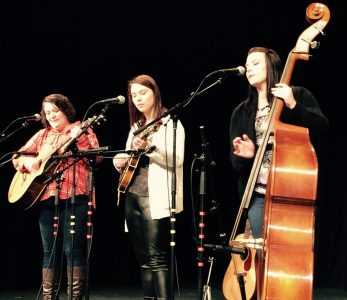 The Pinkgrass Girls will play inside the Co-Op Plaza on Friday, July 1, from 5-8PM.