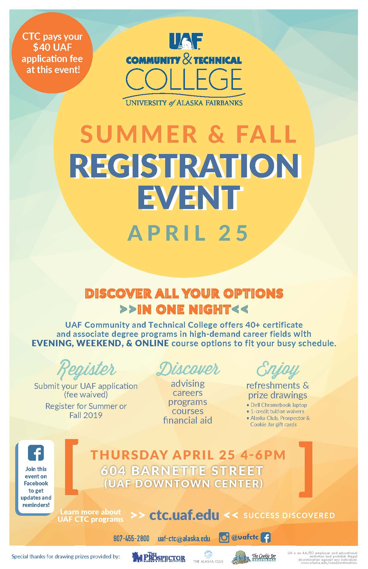 UAF CTC Summer and Fall Registration Event